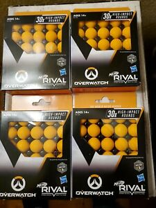(LOT of 4) NERF Rival Overwatch Balls 30x High Impact Rounds Refill Pack