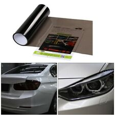 Light Black Car Tint Vinyl Film Sheet Headlight Taillight Wrap Cover Glossy