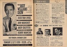 TV AD'S~ANDY WILLIAMS SHOW~ANDY GRIFFITH~ANN MARGRET~BUD YORKIN~DICK VAN DYKE