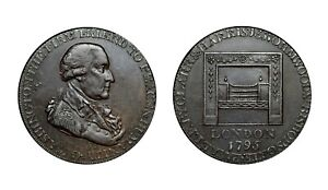 1795 Middlesex Washington Conder Halfpenny D&H 284, Rare