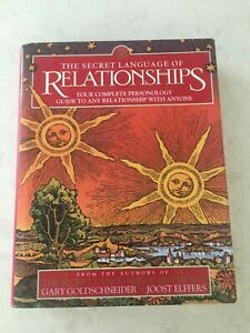 The Secret Language Of Relationships Your Complete Personology Guide HC Book
