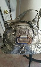 Silver Metallic Large Guess Purse
