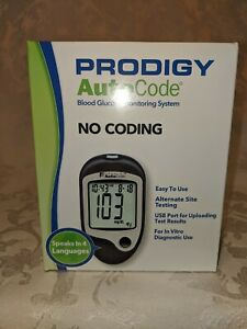 Prodigy AutoCode Blood Glucose Monitoring System NoCoding 4 Languages Sealed New