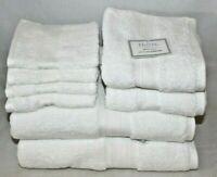 Hotel Balfour Bath Collection Ten Piece Bathroom Spa Towel Set Solid Black New