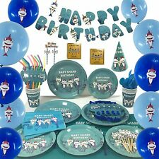Baby Shark Party Supplies Set for Baby Birthday Parties Decorations 140 pcs
