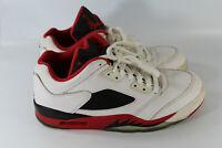 Air Jordan 5 V Retro Low White Fire Red Black 819171-101 Men's Size 8 NO SOLES