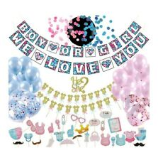 Best Gender Reveal Party Supplies (100pc) | Baby Shower Gender Reveal Decoration