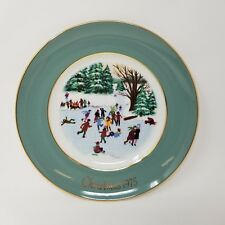 Avon Christmas Plate 1975 Enoch Wedgwood England – Skaters On The Pond