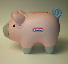 vtg Little Tikes pink plastic large piggy bank pig coin collector baby girl