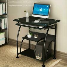 Computer Desk Pc Tempered Glass Table Workstation Office Home Furniture 307B Bl