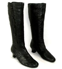 RIEKER Botas tacón bajo 5 cm cómodas cremallera cuero negro 40 EXCELENTE ESTADO