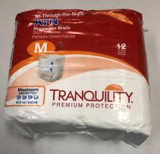 "Tranquility ATN Diaper Brief MEDIUM Overnight 2185 12/ Bag fits 32""-44"""