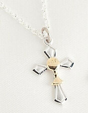 "18"" Chain 3/4"" Cross With Chalice Pendant Necklace First Communion # 64257"