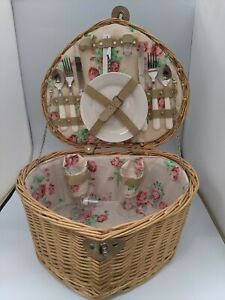 Heart Shaped Wicker Picnic Basket for 2 #SH GA1476