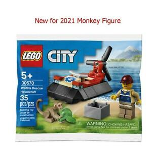 Lego 30570 Wildlife Rescue Hovercraft New Release with New Monkey Figure BNIB