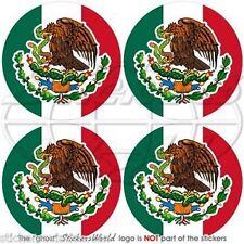 """MEXICO Mexican Vinyl Bumper-Helmet Stickers-Decals 2""""(50mm) x4"""