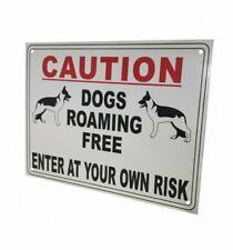 External A4 'dogs Roaming ' Warning Sign