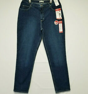 Riders by Lee 18W Long Relaxed Straight Leg Medium Blue Stretch Women's Jeans