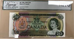 1969 Bank of Canada $20 - Legacy Very Choice New 64PPQ - Face Value Sale