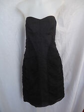 ESPYR Black Dress Size 10 SCREENPLAY Designer SILK LBD BNWT RRP $339 Strapless