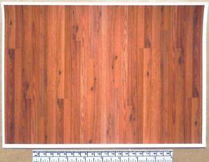 Dolls house 1/12th scale paper - A4 sheet - wood plank flooring 'Golden Oak'