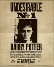 """HARRY POTTER & SIRIUS BLACK WANTED 3D LENTICULAR 8"""" x 10"""" POSTER WIZARD HOGWARTS"""