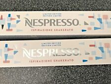 NESPRESSO 20 Capsules ISPIRAZIONE SHAKERATO ICE COFFEE  LIMITED EDITION  NEW