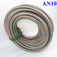 AN10 10AN -10 STEEL BRAIDED TRANSIMISSION OIL FUEL LINE GAS RADIATOR HOSE 1FOOT