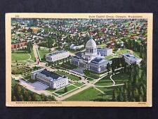 RP Vintage Postcard - USA - #14 State Capital Group Olympia Washington
