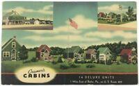 Cramer's Cabins Butler Pennsylvania PA US Route 422 Multi View Vintage Postcard