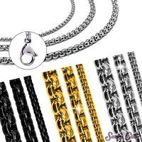 Jasseronkette Erbsenkette Erbskette Gliederkette Edelstahlkette Halskette