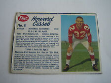 1962 POST CFL FOOTBALL HOWARD CISSEL CARD #8***MONTREAL ALOUETTES***