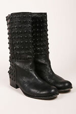 Thomas Wylde Black Studded Skull Leather Boots SZ 10