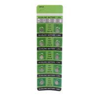 10Pcs AG1 LR621 364 1.55V Alkaline Button Coin Cells Watch Battery Batteries