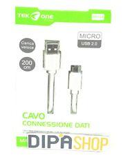 Cavo Usb TeKone 12A Dati Ricarica Plug MicroUsb Lunghezza 2 metri hsb