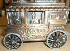 VINTAGE BANTHRICO POPCORN CONCESSION CART COIN BANK WITH KEY 1974