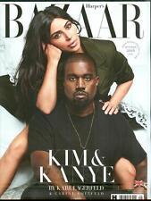 HARPER'S BAZAAR MAGAZINE UK SEPTEMBER 2016, Kim Kardashian And Kanye West COVER.