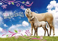 Großartig Pferde Einladungskarten Zum Kindergeburtstag, Geburtstagseinladungen Kinder