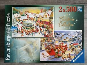 Ravensburger No.1 Christmas Collection 2 x 500 Piece Jigsaw Puzzle. COMPLETE