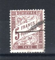 "FRANCE STAMP TIMBRE TAXE YVERT N° 27 "" TYPE DUVAL 5F MARRON "" OBLITERE TB  T438"