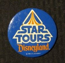 "1986 Star Tours Disneyland 3"" Pin Pinback Button Vg 4.0"