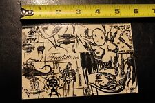 """Reef Denim Zeichenstift Kunst """"Tradition"""" ~ 5.5"""" Vintage Surfen Aufkleber Sticker"""
