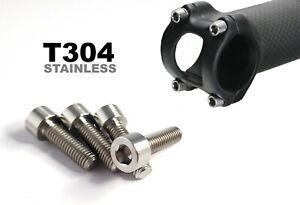 Stainless Steel Handlebar Stem Bolt Set - M5x20mm M5x16mm