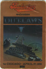 Outlaws 1981 Ghost Riders Tour Budweiser Promo Pass