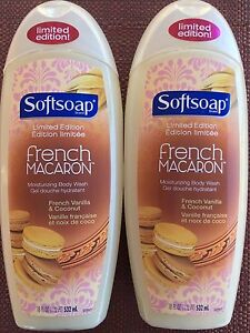 2 Softsoap FRENCH MACARON Vanilla Coconut  Moisturizing Body Wash Limited Editio
