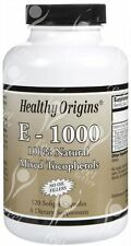 Healthy Origins, Vitamin E-1000, 100% Natural, x120gels