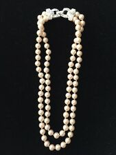 Spectacular Vintage Estate NWOT CAROLEE Faux Pearl Double 2 Strand Necklace