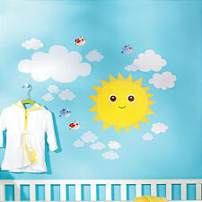 WALLIES BABY SUNSHINE wall stickers 21 decals nursery decor sun clouds birds