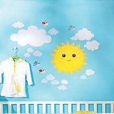 WALLIES BABY SUNSHINE wall stickers 21 decals nursery decor sun clouds birds