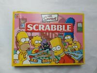 The Simpsons Scrabble Board Game By Mattel, 100% Complete, Word Spelling Family